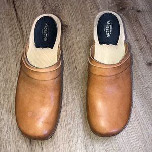 Swedish Hasbeens Stockholm Brown Clog Size 40